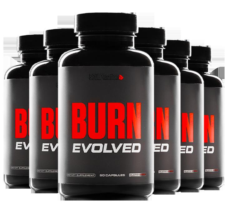 Burn Evolved 6 Bottles