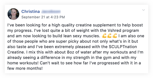 Creatine review by Christina